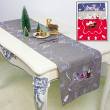 1PC Christmas Table Flag Mat Tablecloth Home Party Decorative Santa Claus Tapestry Red Restaurant