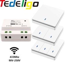 Smart Switch Light interruttore a parete a pulsante Wireless 433Mhz telecomando on Off 220V 10A ricevitore riscaldatori domestici lampada da soffitto LED