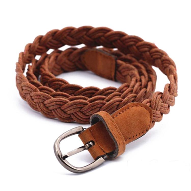 Nuevo estilo vestido cinturón trenza forma de colores de caramelo con cuerda de cáñamo cinturón trenza mujer cáñamo cinturón mujer/cinturón para las mujeres de verano vestido de Venta caliente