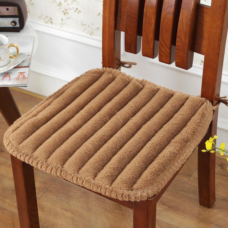 Hoof Chair Seat Cushion Pure Colour Dining Chair Cushion Home Decor Pad Sofa Seat Cushion Back Of Car Chair Pad Plush Fart Pad