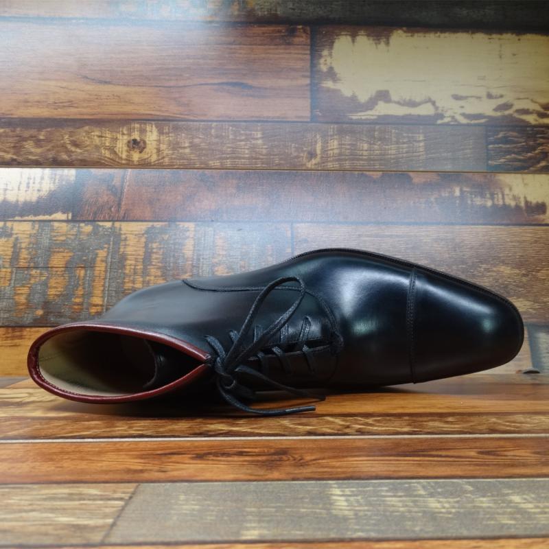 Sipriks/черные модельные ботинки из натуральной кожи для мужчин; модные итальянские Прошитые сапоги с рантом; ботинки оксфорды с закрытым носком; Рабочая обувь - 3