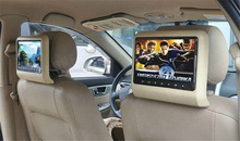 2 X 7 Inch Car Headrest TFT LCD Monitor Screen Auto Automotivo Audio Video Multimedia Multimidia Display ( Black Beige Gray )