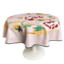 Chinese waterproof cotton and linen round tablecloth, cloth round table coffee table dining table cover cloth table mat цена 2017