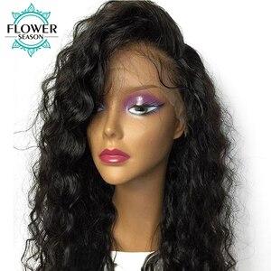 Glueless ludzki włos peruka peruwiańskie włosy Remy 5x5 silk baza peruki Water wave koronkowa peruka z włosów dziecięcych naturalną linią włosów 130% dla kobiet