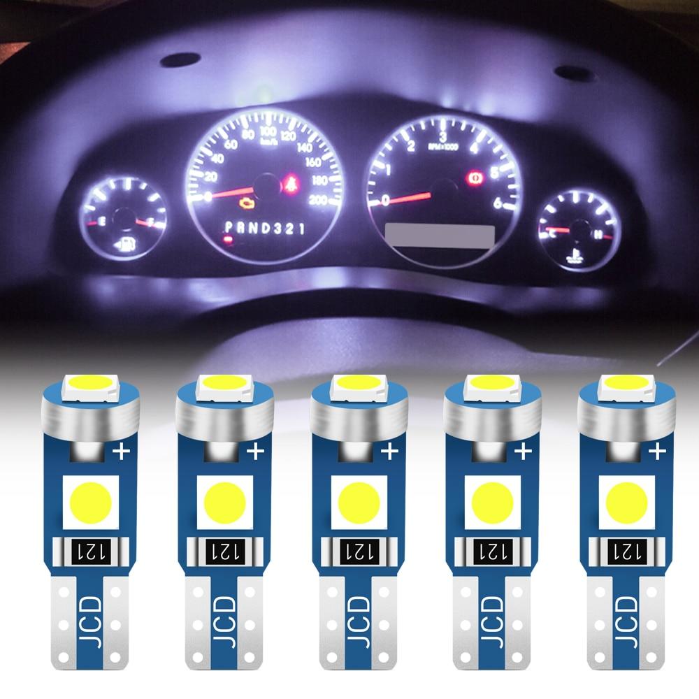 5 шт. T5 W3W светодиодные лампы для приборной панели автомобиля для Nissan TIIDA X TRAIL Qashqai Skoda Octavia Fabia Renault Clio Ford Focus Дискодержатель      АлиЭкспресс