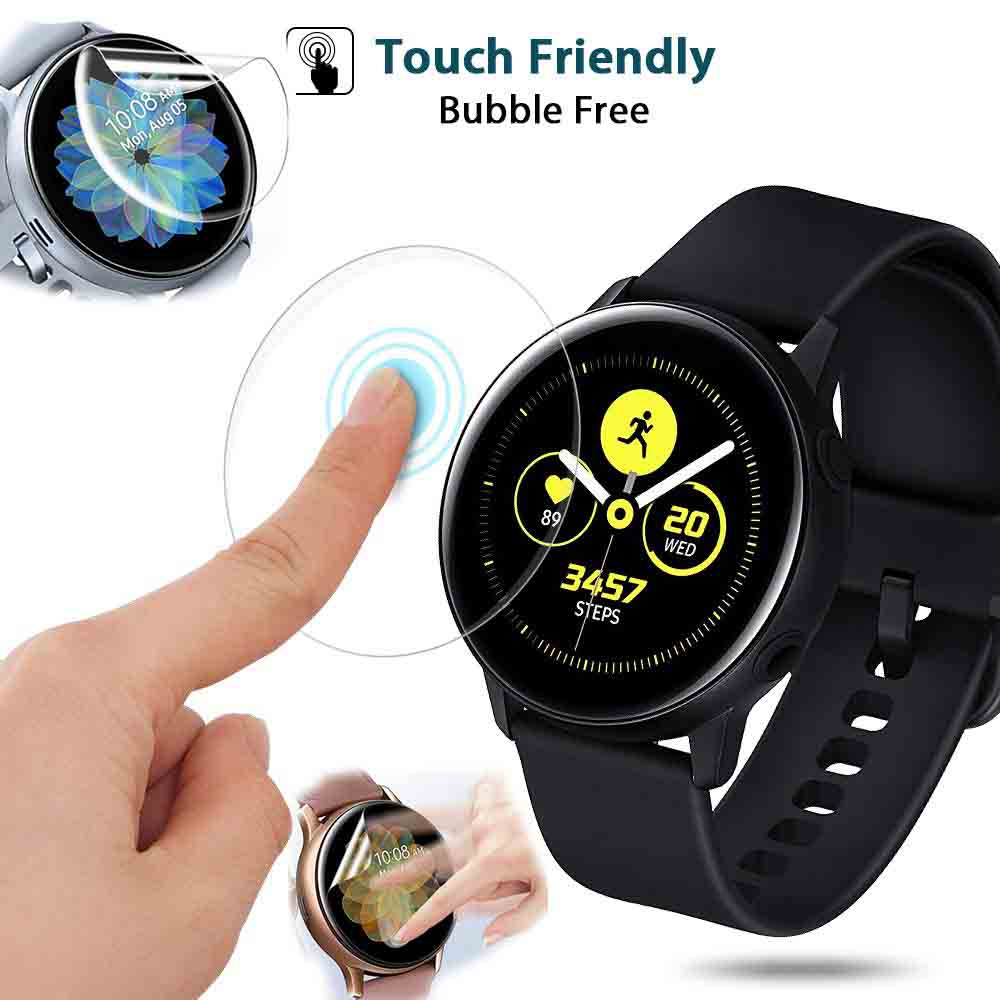 3pcs 5pc Active2 Screen HD Protective Film For Samsung Galaxy Watch Active 1 2 40mm 44mm Watch Clear Film Ultra-thin Full Cover