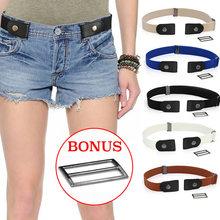 Easy Belt sin hebilla cinturón elástico para mujer moda estiramiento riem vaqueros para hombres cinturón niños niñas cinturón para mujer