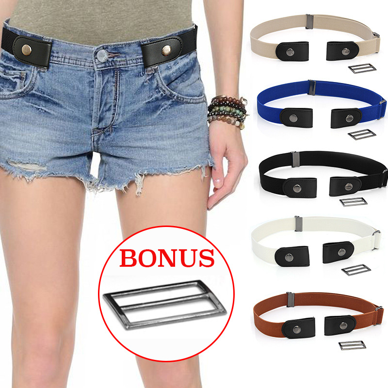 Easy Belt Without Buckle Elastic Black Belts For Women Jeans Dresses Fashion Stretch Waist Men Kids Boys Cinturon Elastico Mujer