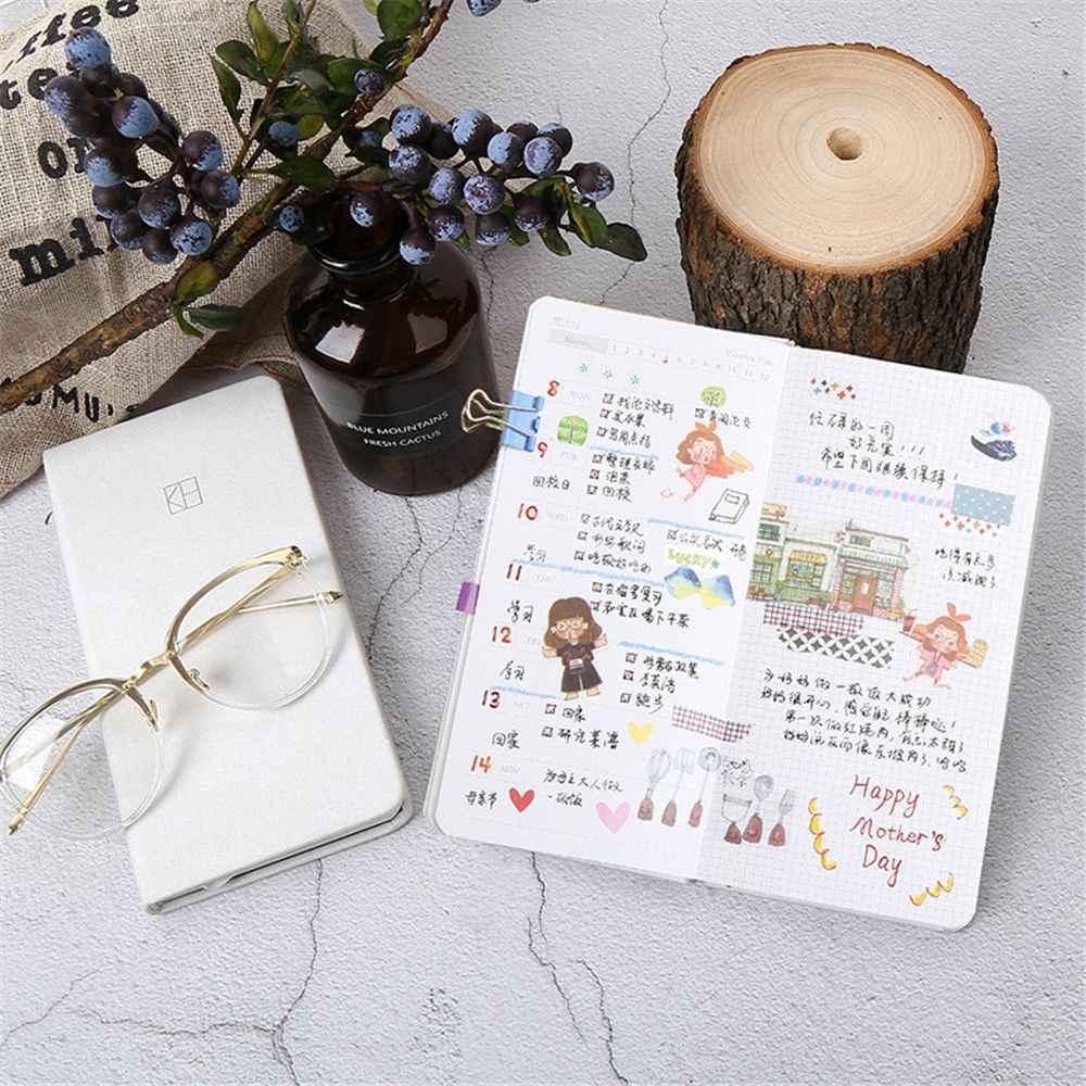1 шт., Kawaii, записная книжка, карманный еженедельник, органайзер, расписание офиса, ежемесячный ежедневник, дневник, блокнот, канцелярские принадлежности