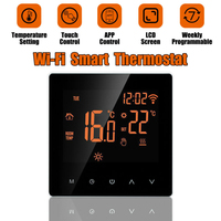 Thermostat Controller LCD Touch Screen Programmable Smart Digital Temperature AC 230V Family Intelligence System