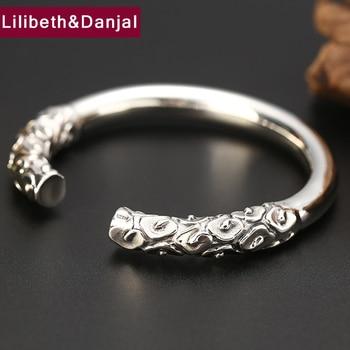 Women Men Bangle Real 925 Sterling Silver Smooth Cloud Opening Bracelet Bangle argent 925 fine Jewelry brazalete mujer 2019 B5