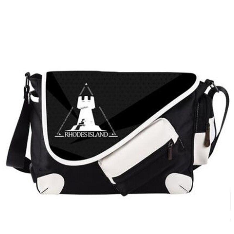 Arknights Rhodes Isand USB Port Shoulder Messenger Handbag Bag Sling Bag Travelbag School Satchel Crossbody Bag Black