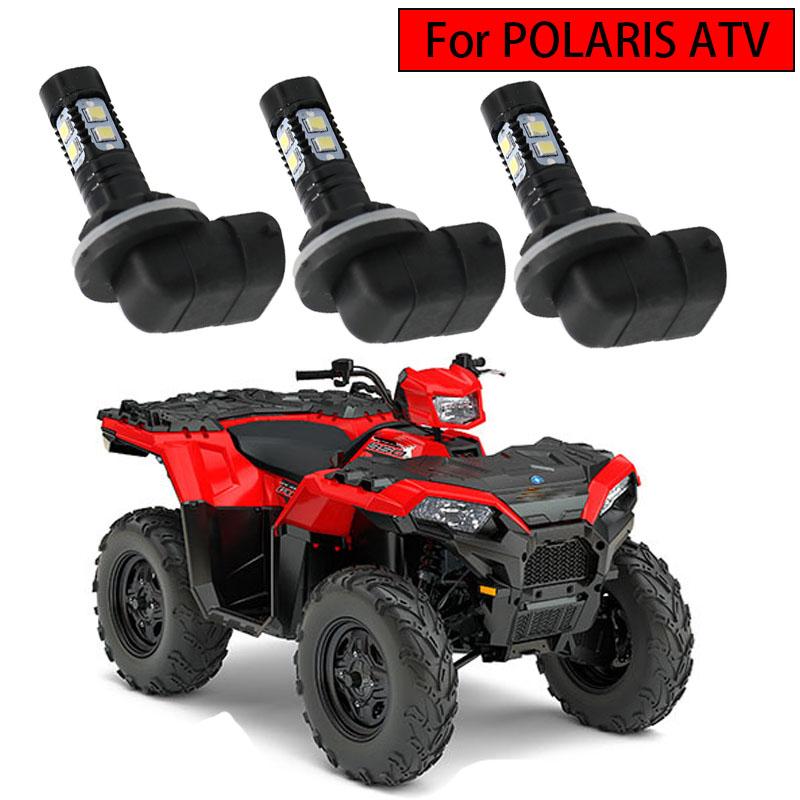 Led Headlight Bulbs Lamps 150W High Power 6000K Super White 3600LM For Polaris Sportsman RZR 570 Ranger ACE Magnum Hawkeye 3Pcs