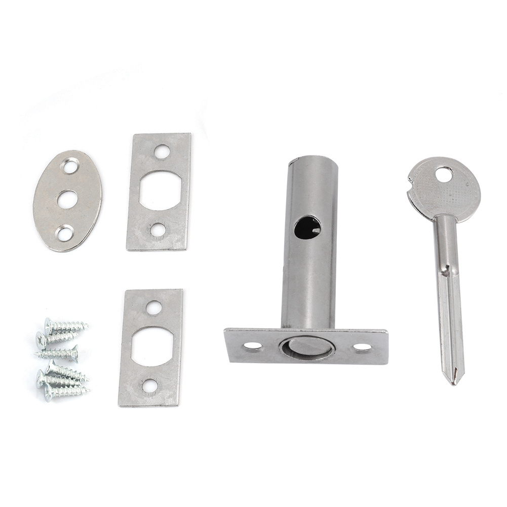 Stainless Steel Hardware Pipe Tube Well Insert Lock With Key Lock Buckle For Fireproof Door Escape Aisle​​