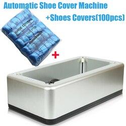 Silber Automatische Schuh Abdeckung Maschine Intelligente Schuh Hülse Werkzeug Einweg Fuß Abdeckung Maschine Schuh Film + 100 stücke Schuhe Abdeckungen