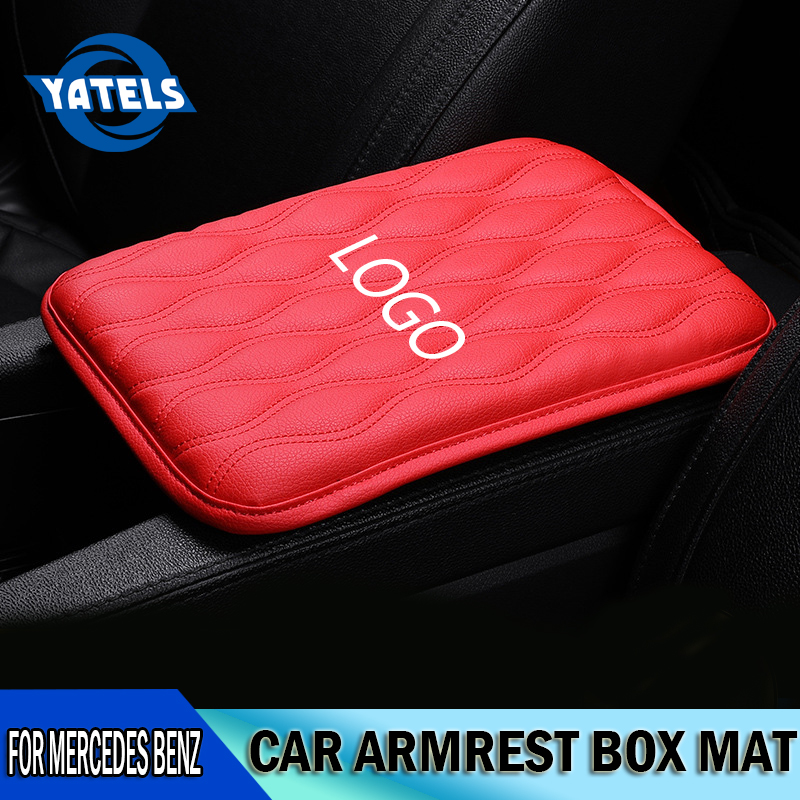 NEW Fashion Car Armrest Protection Box Pad Universal Armrest Increase Pad For Mercedes Benz AMG GLC GLE E CLA GLA W205 W211 W213