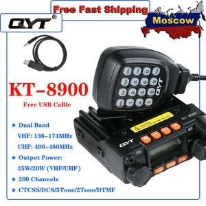 QYT KT-8900 Mobile Radio Vehicle Transceiver CB Radio Walkie Talkie Dual Band 136-174/400-480MHz 25W high power Transceiver