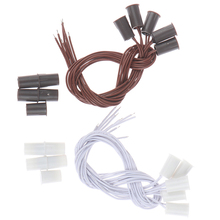 5Pcs/lot MC-38 Wired Door Window Sensor Magnetic Switch For Home Alarm System,When Sensor Together,normally Closed NC