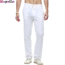 New Autumn Casual Pants Chinese Style Cotton Linen Sports Fitness yoga walking Trousers Male loose Big size XXL Straight
