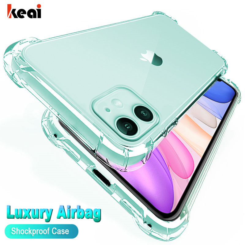 Luxury Shockproof Silicone Phone Case For iPhone 11 Pro Max X XR XS MAX 7 8 Plus 6 6s 5 5S SE 2020 11 Pro Case Protection Cover