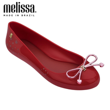 2020 New MELISSA SWEET LOVE AD Women Jelly Shoes Sandals Women Jelly Sandals Melissa Adult Female Hollow Flat Shoes Summer Shoes eiswelt 2017 new women sandals sweet bowtie flat shoes woman summer jelly shoes 4 colors size 35 39 dzw23