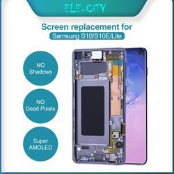 100% Ori AMOLED wyświetlacz do Samsung Galaxy S10 S10e Plus Super AMOLED wyświetlacz ekran dotykowy Digitizer zgromadzenie z dotykowym ID część
