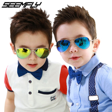 Seemfly Fashion Kids Sunglasses Kids Piolt Children Boys Girls Sun Glasses Brand Design UV Protection Shades Oculos Gafas De Sol