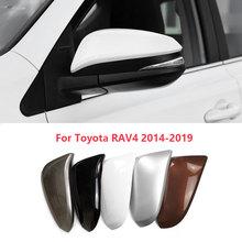 Para toyota rav4 2014 2015 2016 2017 2018 2019 side espelho retrovisor capa escudo porta titular tampa do espelho habitação