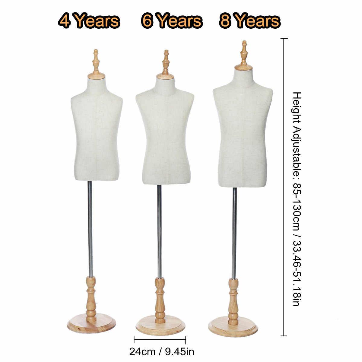 3 rozmiar lniana tkanina dobrze wykonana sukienka tkaniny manekin demontowalne wsparcie dziecko model manekina stojak na krawców wyświetlacz odzieży
