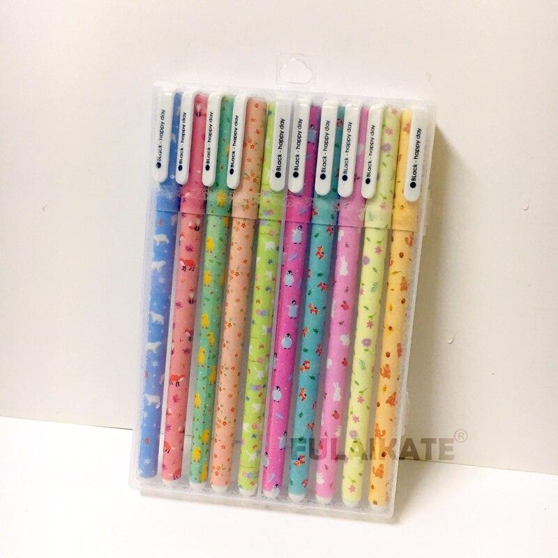 Fulaikate moda papelaria floral caneta aquarela cor