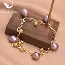 Xlentag Natural Colorful Freshwater Pearls Bracelets Accesories For Women Jewelry Braclets For Women Handmade Jewelry GB0951A