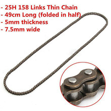 Hot sale 25H 158 Links Chain For 47/49cc Pocket Bike Mini Moto Quad Dirt ATV Scooter(China)