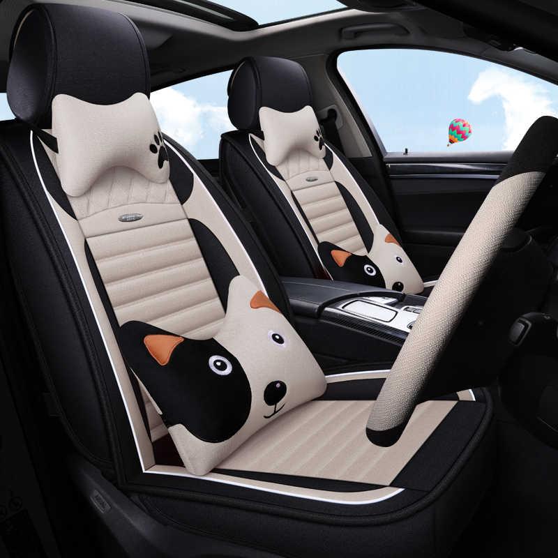 Cubierta completa de fibra de lino funda de asiento de coche para suzuki grand vitara suzuki liana toyota 4runner toyota audis