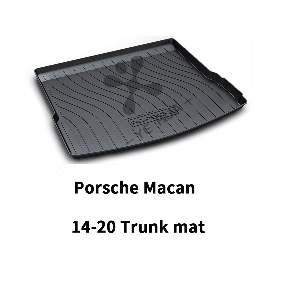 Porsche MACAN Black Heavy Duty Cargo Floor Mat-All Weather Trunk Protection, Durable HD TPO Fit For Porsche MACAN 2017 2018 2019