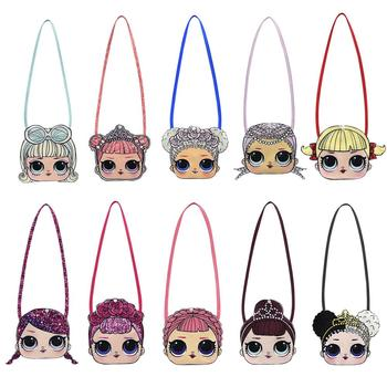LOL Surprise Dolls Original New Cartoon Children's Bags Girls Lovely Shoulder Bags Diagonal Span Small Capacity Buckle Backpack