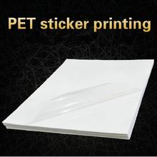 50Sheets 21X29.7cm A4 Clear Transparent Self Adhesive Vinyl Film Label Pet Sticker Printing Waterproof Sticker for Laser Printer