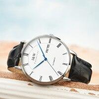 2019 Carnaval EU & W Fina Homens Automáticos Do Relógio Mecânico Pulseira de Couro Relógios Top Marca de Luxo Roma Número Relógio relogio masculino|Relógios mecânicos|Relógios -