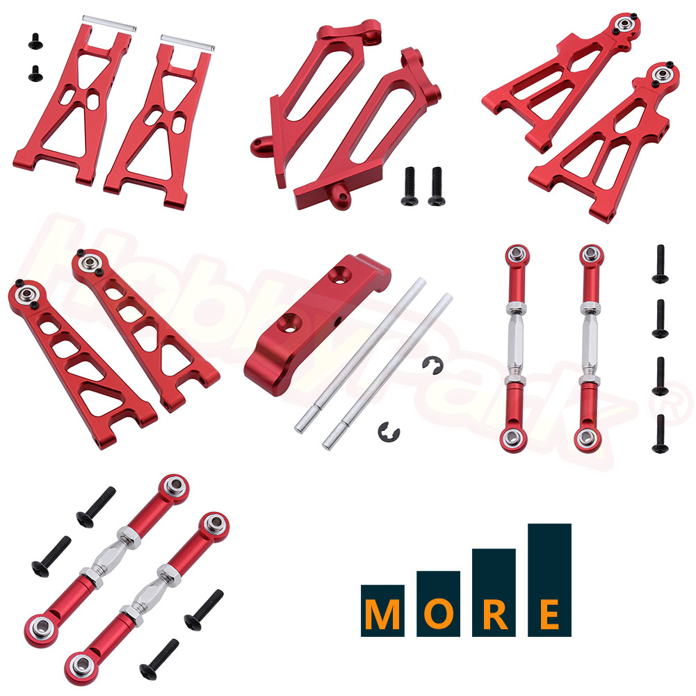 Metal Aluminum Alloy Upgrade Parts For Himoto Tanto E10XB RC Buggy Model Car Replacement Red
