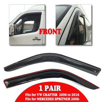 รถหน้าต่าง Sun Rain Visor Deflectors ลม Guard Shield สำหรับ VW CRAFTER 2016 สำหรับ MERCEDES SPRITNER 2006-