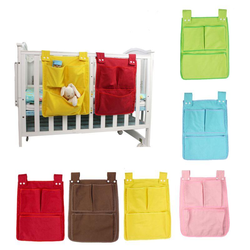 Cartoon Hanging Storage Bag Nursery Rooms Diaper Pocket For Newborn Crib Bedding Set Baby Cot Bed Crib Organizer Toy 45*35cm