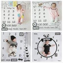 Milestone-Utilería de fondo para fotografía de bebé, mantas de juego, telón de fondo, calendario nórdico, accesorios utillería de fotografía