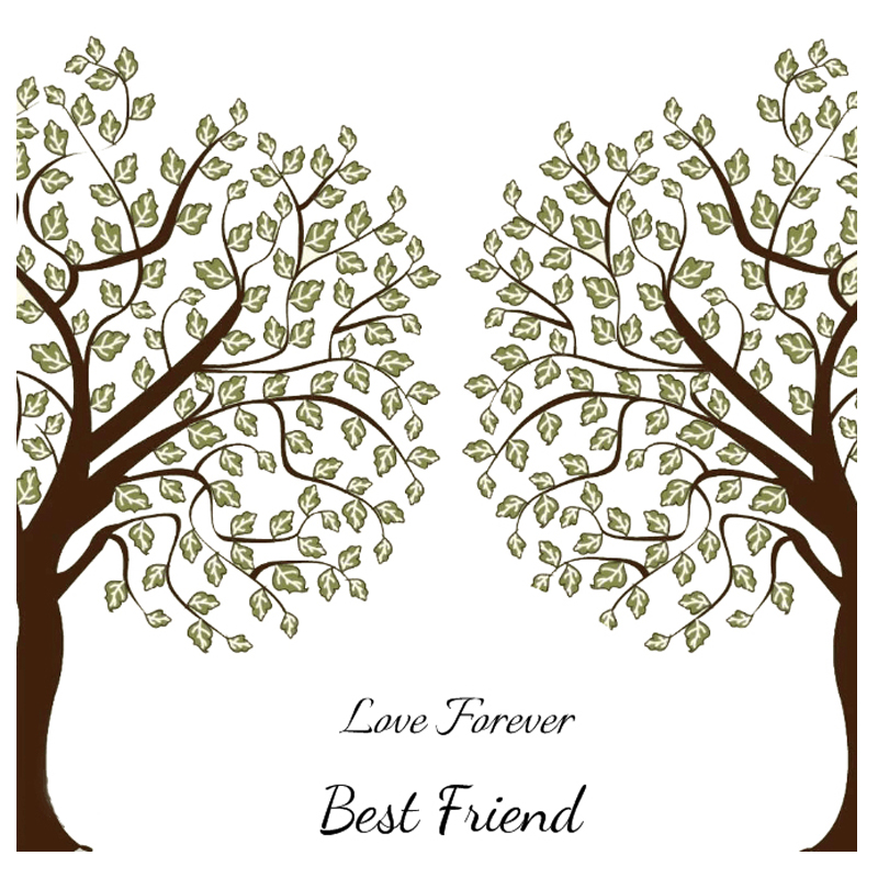 ZhuoAng Love Forever Best Friend Clear Stamps For DIY Scrapbooking/Card Making/Album Decorative Silicone Stamp Crafts
