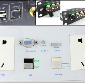 Image 3 - 10 قطعة الصوت والفيديو شبكة بيانات الغبار التوصيل مقاوم للماء الغطاء الواقي لينة سيليكون VGA BNC USB RJ45 RJ11 جاك 3.5/6.35 RCA