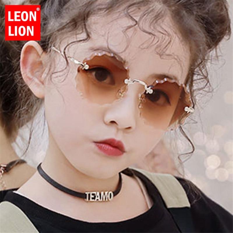 LeonLion Round Retro Children Sunglasses Vintage Glasses For Girl/Boy Luxury Brand Sunglasses Child Cute Oculos De Sol Feminino