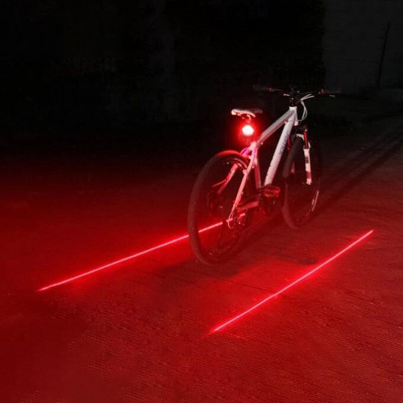 Bicycle Cycling Lights Taillights LED Laser Safety Warning Waterproof Bicycle Lights Cool Bicycle Tail Bicycle Accessories Light title=
