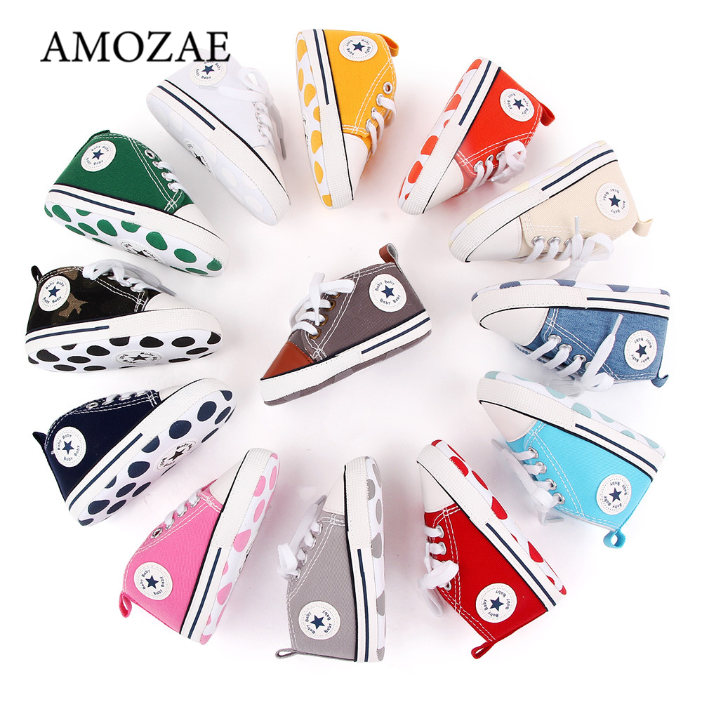 New Canvas Baby Sports Sneakers Shoes Newborn Baby Boys Girls First Walkers Shoes Infant Toddler Soft Sole Anti-slip Baby Shoes 1
