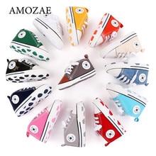 Zapatillas deportivas de lona para bebés, zapatos antideslizantes de suela blanda para recién nacidos