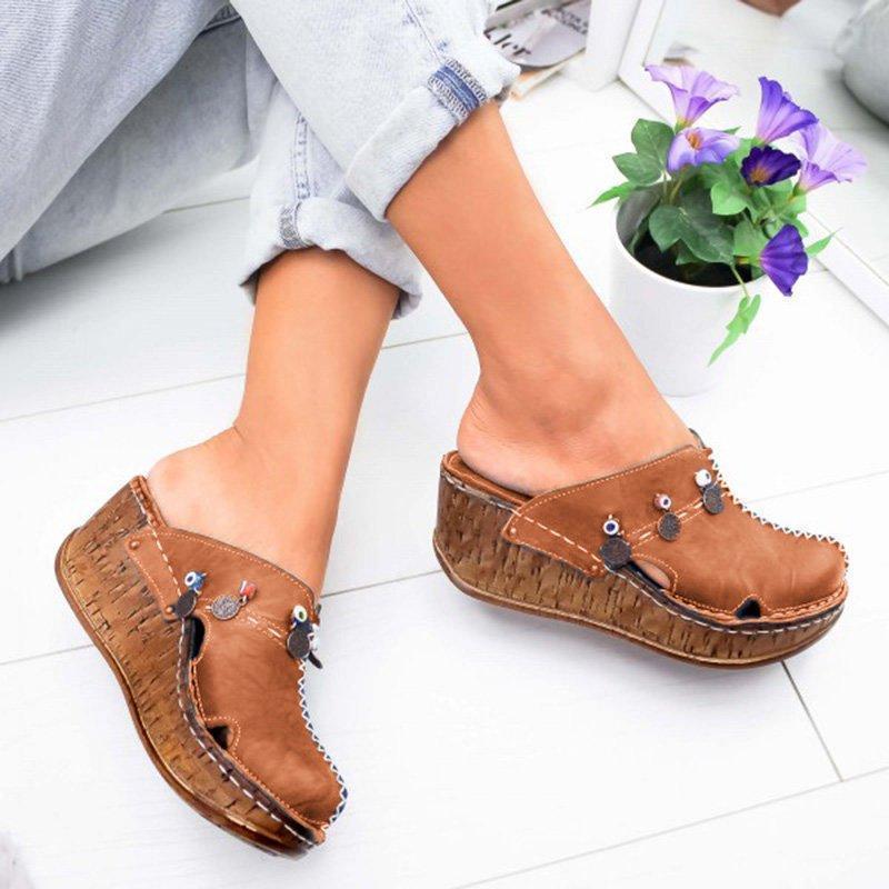 Puimentiua/женские босоножки; Летняя обувь на платформе; Женские босоножки на высоком каблуке; Летняя обувь; Прошитые сандалии в стиле ретро; Sandalia Feminina|Боссоножки и сандалии|   | АлиЭкспресс