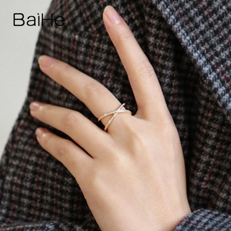 Exquisite Vergoldet Kreuz Ringe für Damen Verlobung Hochzeit Diamantring Neu Lf