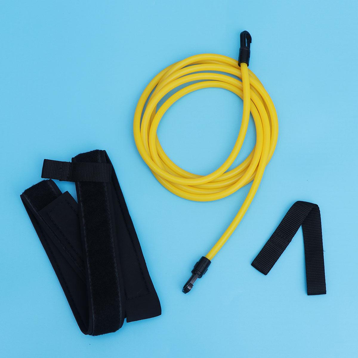Swimming Resistance Belt Set Swim Training Band Swim Elastic Exerciser Belt With One Waist Strapk One Loop One Mesh Bag